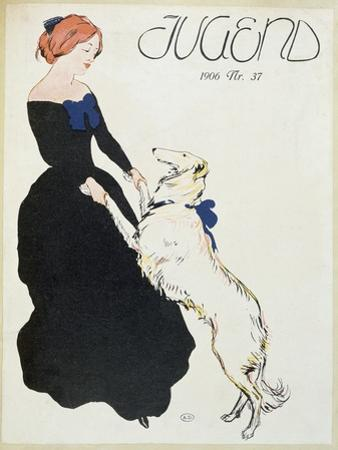 Lady with a Greyhound, Illustration from 'Jugend', 1906