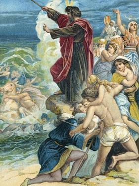 Moses Crossing the Red Sea by German School