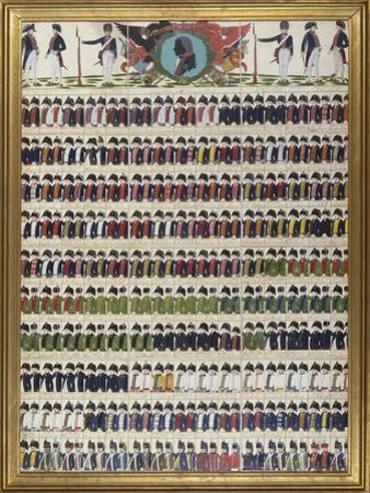 New Uniform Designs for the Royal Prussian Army, 1799 by German School