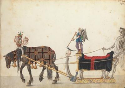 Pageant sleigh in parade, c.1640 by German School