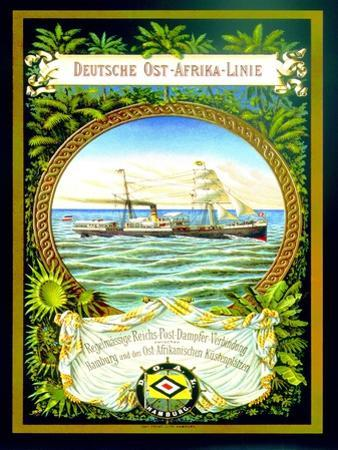 Poster Advertising the German East Africa Line, 1890