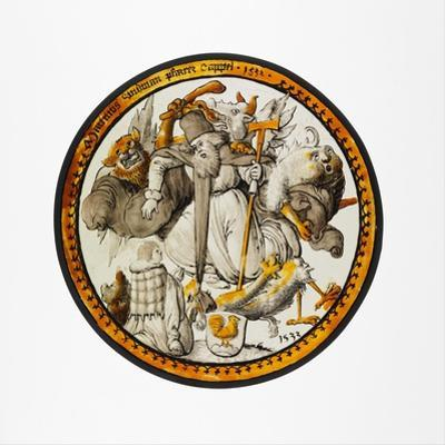 Roundel with the Temptation of Saint Anthony, 1532 by German School