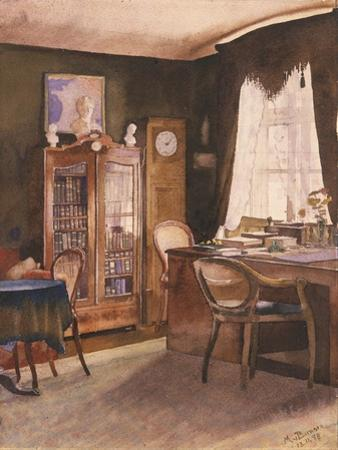 Theodor Fontane's Study by German School