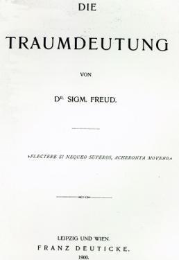 Titlepage to 'Die Traumdeutung' by Sigmund Freud, Published in 1899 by German School