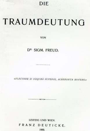 Titlepage to 'Die Traumdeutung' by Sigmund Freud, Published in 1899 by German School