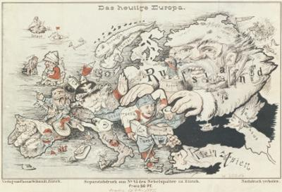 Today's Europe', 1887 by German School