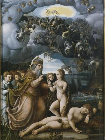 Triptych of the Creation, Creation of Eve, Central Panel by German School