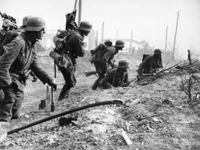 German Soldiers of the German Mortar Detachment in the Battle for Stalingrad August 1942
