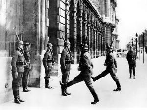German Soldiers on Guard Duty Outside the Hotel Crillon, Paris, 7 October 1940