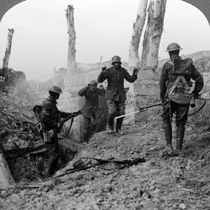 German Soldiers Surrendering, Bullecourt, France, World War I, 1914-1918