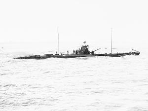 German Submarine on Raid in Atlantic