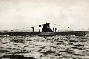 German Submarine U-8, a Type Iib U-Boat of the German Kriegsmarine