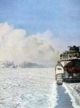 German Tank Fighting in the Snow, Russia, January 1943