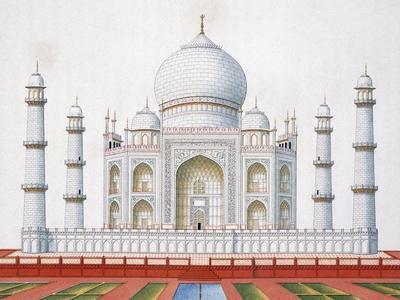 The Taj Mahal (Colour Litho)