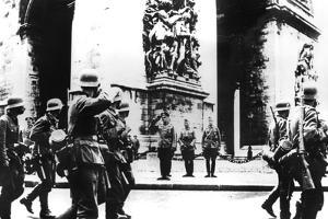 German Troops Marching Past the Arc De Triomphe, Paris, 14 June 1940