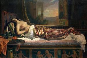 The Death of Cleopatra, 1841 by German von Bohn