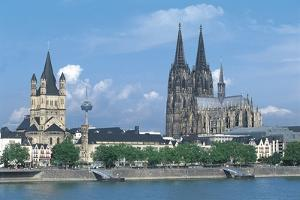 Germany - Cologne. View with Cathedral