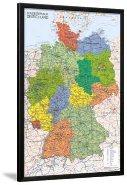 Germany Map Reference Poster