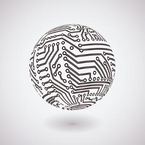Circuit Board Sphere by germina