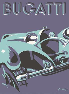 Bugatti Type 55 Roadster Sports Car by Gerold Hunziker