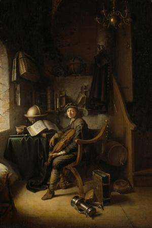 Interior with a Young Violinist, 1637 (Panel)