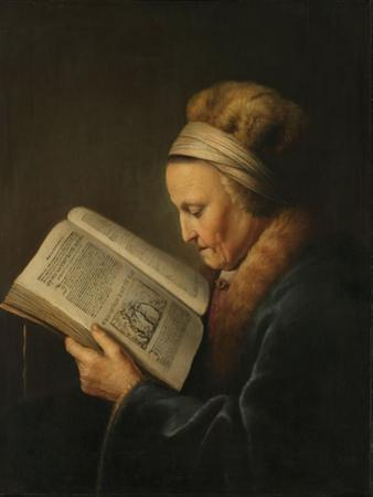 Old Woman Reading, c.1631-2 by Gerrit or Gerard Dou