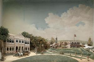 Diorama of Government Square in Paramaribo by Gerrit Schouten