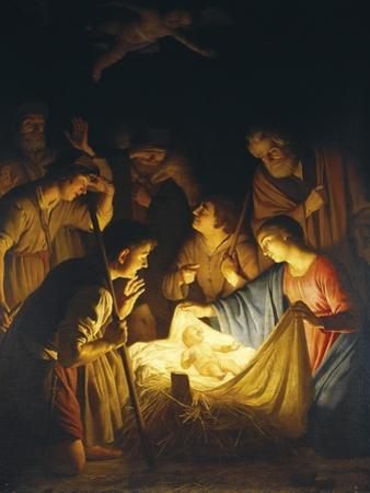 Adoration of the Shepherds (Adoration of the Shepherds) by Gerrit van Honthorst