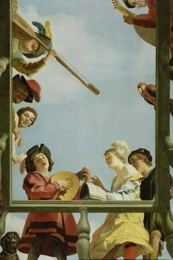 Musical Group on a Balcony, 1622 by Gerrit van Honthorst