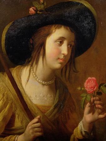 Princess Sophia of Bohemia (1630-1714), Mother of George I as a Shepherdess by Gerrit van Honthorst