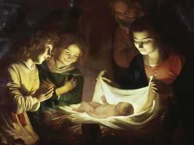 The Adoration by Gerrit van Honthorst
