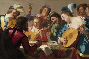 The Concert, 1623 by Gerrit van Honthorst