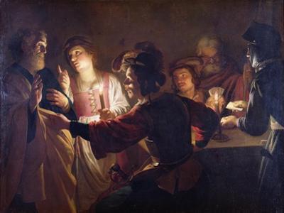 The Denial of St. Peter, C.1620 by Gerrit van Honthorst