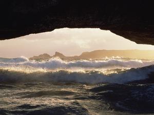 Natural Bridge Formation, Northeast Shore Aruba Island, Southern Caribbean by Gerry Ellis