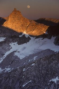 Sawtooth Peak, Moonrise, Sequoia and Kings Canyon National Park, California, USA by Gerry Reynolds