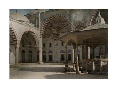 A View of the Courtyard Outside of Sultan Selim Mosque by Gervais Courtellemont