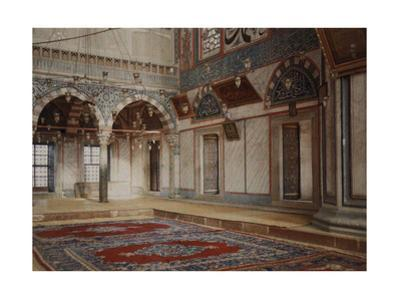A View of the Interior of a Room in the Sultan Selim Mosque by Gervais Courtellemont