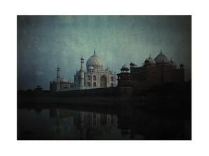 A View of the Taj Mahal on the Jumna River at Sunset by Gervais Courtellemont