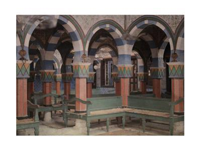 An Interior View of Griba Synagog in Djerba by Gervais Courtellemont