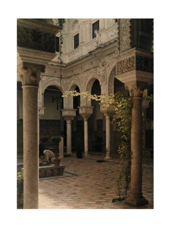 An Interior View of the Court of the Lions in Seville by Gervais Courtellemont