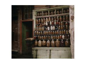 Shelves of a Pickle Merchant's Shop are Stocked with a Wide Selection by Gervais Courtellemont