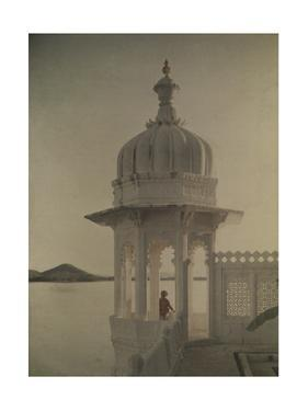 View of the Palace of Maharaja's Pond from the Island of the Sultans by Gervais Courtellemont
