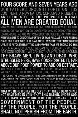 Gettysburg Address (Black) Text