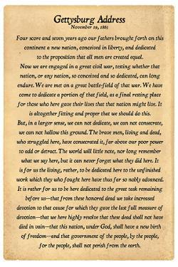 Gettysburg Address Full Text Poster Print