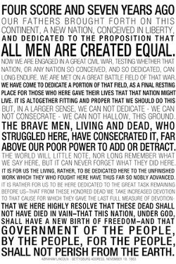 Gettysburg Address Text Poster