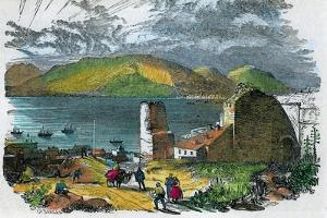 Algeciras, Spain, and Bay of Gibraltar from the Old Moorish Castle, Gibraltar, C1880 by GF Sargent