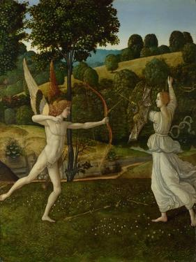 The Combat of Love and Chastity, Between 1475 and 1500 by Gherardo di Giovanni del Fora