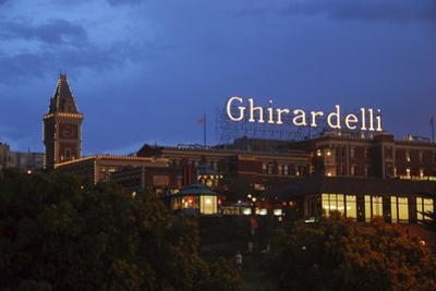 Ghirardelli Square at Night, San Francisco, California