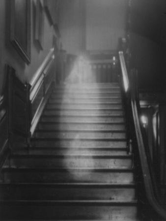 Ghost Descending the Staircase at Raynham Hall, Norfolk, England