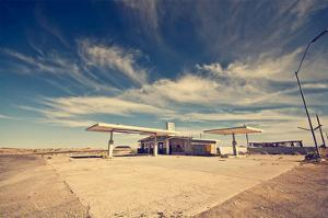 Ghost Gas Station on Route 66